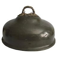 Large English Pewter Food Dome, James Dixon & Sons, Sheffield