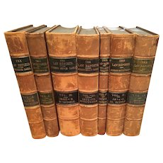 Law Books: 7 Volumes of The Law Reports, English, 1867 - 1875