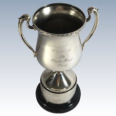 English Silver Plate Trophy,