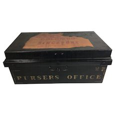 Tole Painted Documents & Deed Box