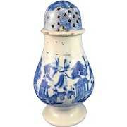 English Blue Willow Transfer Ware Pepper Pot