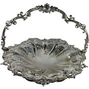 English Victorian Silver Plated Basket