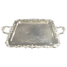Towle Silversmith Square Handled Serving Salver, C.1930