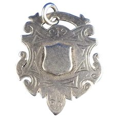 1899 English Sterling Silver Fob Award Medal