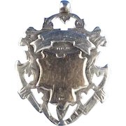 1901 English Sterling Silver with Gold Fob