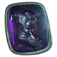 English Amethyst Intaglio Watch Seal