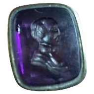 English Amethyst Intaglio Watch Seal