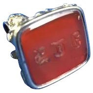 C.1880 English Intaglio Carnelian Watch Fob and Seal