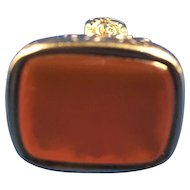 English Carnelian 14 k Watch Fob