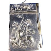 C.1900 French Silver Plate Aide-Memoire