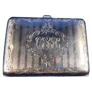 English Sterling Silver Cigarette Case, C. 1910-1920