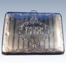 English Sterling Silver Cigarette Case, C. 1910-1920