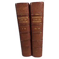 Antique Books by James Boswell of Samuel Johnson.      Leather Bound, Biography, Historical, 1859, London