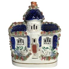 English Staffordshire Cottage Figurine  C.1880