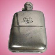 Hawksley Silver Plate Flask, Sheffield, England