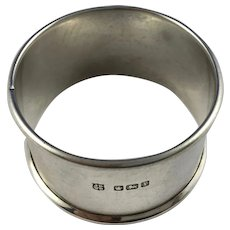 1915 English Sterling Silver Napkin Ring