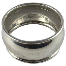 Sterling Silver Napkin Ring Hallmarked 1940