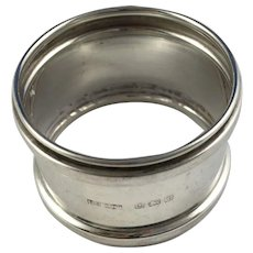 Hallmarked English Napkin Ring, 1918