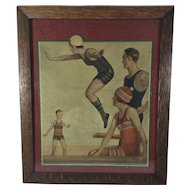 Framed Print of People Wearing Jantzen Swimming Suits