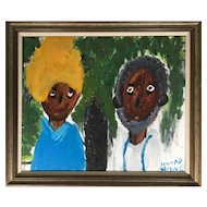 African American Gothic Painting by Alyne Harris