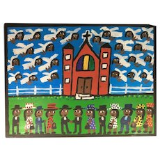 Folk Art Painting by Chris Clark, African American Visionary Artist