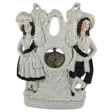 Staffordshire Figurine Watch Holder, c. 1860-1880