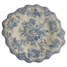 1880 English Staffordshire  'Asiatic Pheasant' Cake Plate