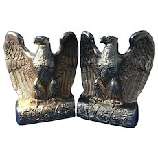 Pair of Brass Eagle Book Ends