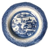 Canton Porcelain Shallow Bowl, 1800