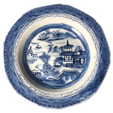 Canton Porcelain Shallow Bowl, 1800