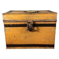 English Mustard Toleware Bread Box.  C.1900