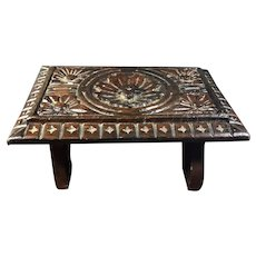 19 th Century Carved Wood Foot Stool