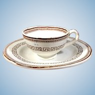 Child's English Tea Plate and Cup.  C. 1840