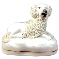 C.1860-1880 English Staffordshire Figurine Poodle