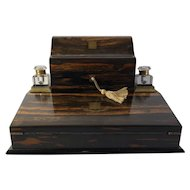 Coromandel Desk Top Writing and Stationary Desk/Cabinet, Edinburgh, C. 1865