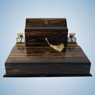 Coromandel Desk Top Writing and Stationary Desk/Cabinet, Edinburgh, C. 1865