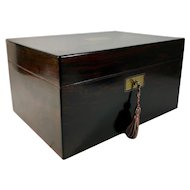 Rosewood Fully Fitted Dressing Box by J J Mechi, London, C. 1860