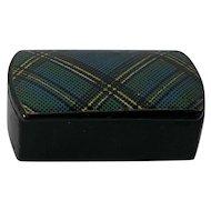 1890's Tartan Ware Snuff Box