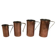 English Vintage Copper Measuring Cups