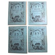 Partial Set Household Edition of the Works of Charles Dickens, 4 Volumes