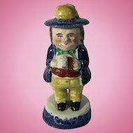 C.1840 Toby Blue Willow Mustard Pot, Prestopans, Scotland