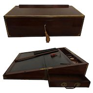 George III Cuban Mahogany Campaign Chest Lectern Slope