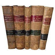 5 Leather Bound Law Books of The English Law Reports, 1838 - 1917