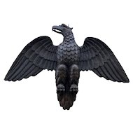 19th Century Carved and Turned Wooden Eagle