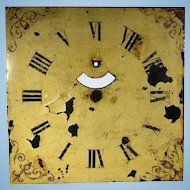 English Clock Face Featuring Fleur de lis Designs