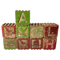 Set of 10 Alphabet Blocks