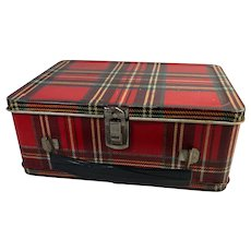Red Tartan Plaid Lunch Box