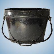 English Cast Iron Coal Bucket, Painted Black