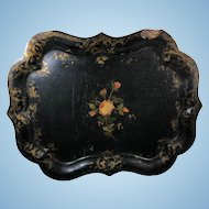 English Victorian Papier-Mâché Tray