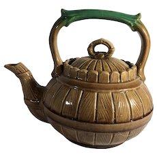 English Majolica Tea Pot  1865-1906
